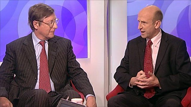 Max Hastings and John Healey