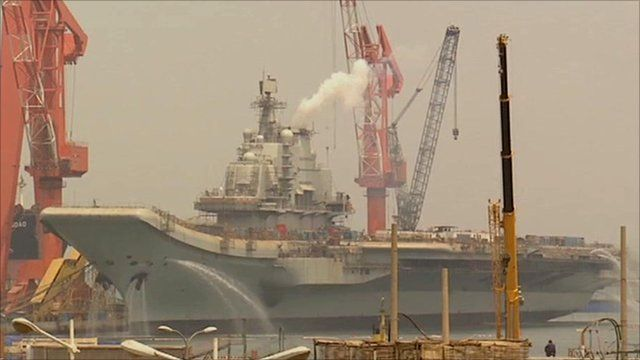 Aircraft carrier being built in China