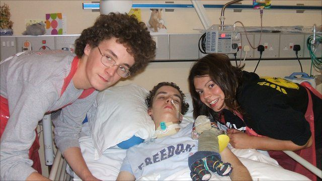 Christopher with his brother Andrew and sister Emma
