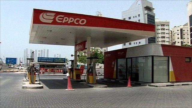 Closed petrol station