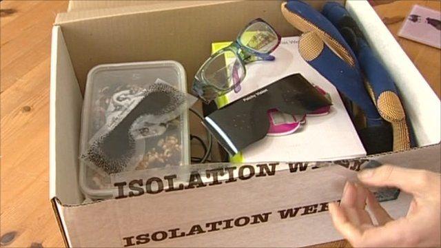 Supplies in a box