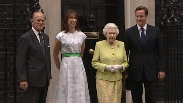 Prince Phillip, Samantha Cameron, the Queen and David Cameron