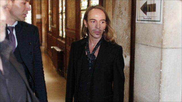 John Galliano arrives in court