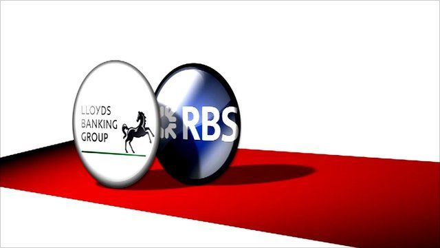 Graphic of Lloyds Banking Group and RBS