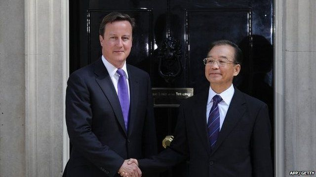 David Cameron and Wen Jiabao