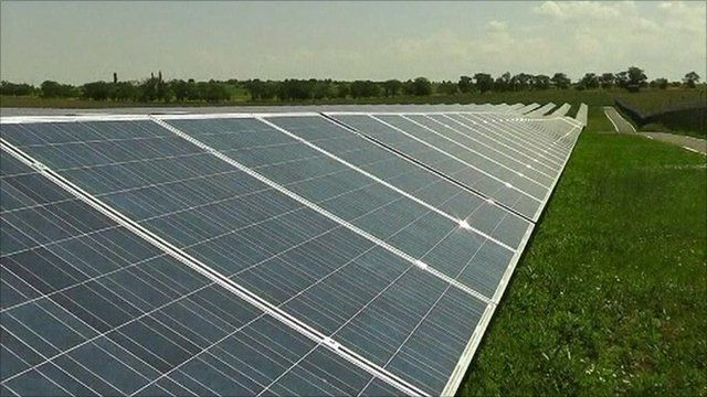 Solar power plant in Ukraine