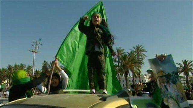 Pro Gaddafi support in Tripoli