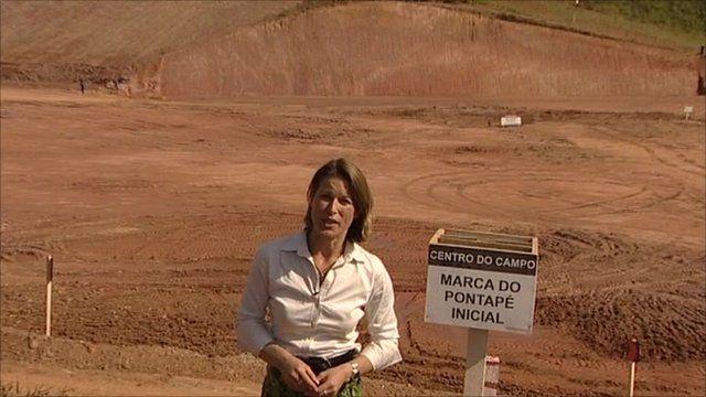 Stephanie Flanders at World Cup stadium site