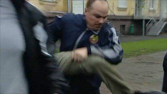 Protest crackdown in Minsk