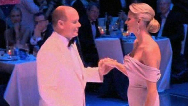 Prince Albert and his fiancé Charlene Wittstock