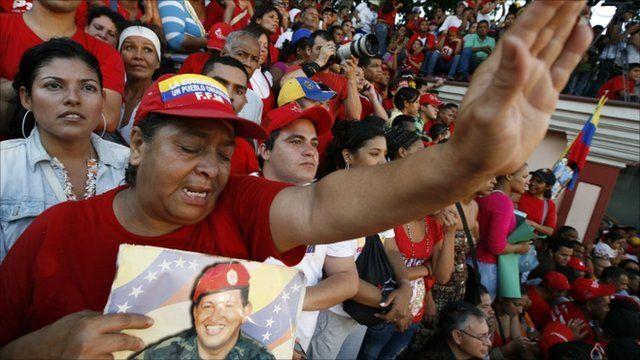 Chavez supporters in Venezuela