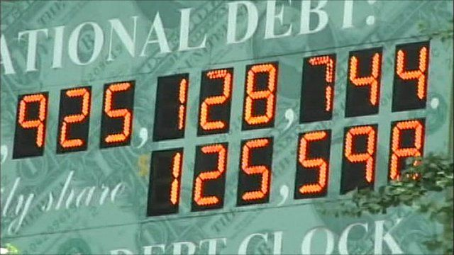 National debt clock in the US
