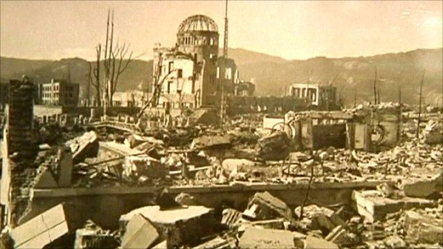 Hiroshima bomb aftermath photograph