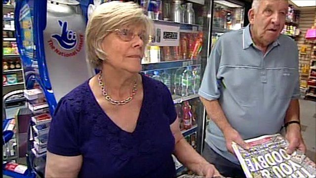 Customers at a newsagent in Manchester