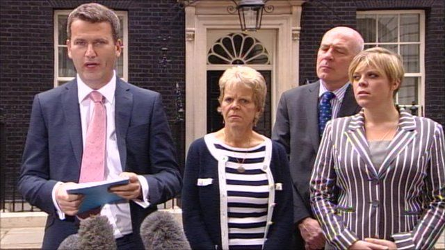 Mark Lewis and the family of Milly Dowler