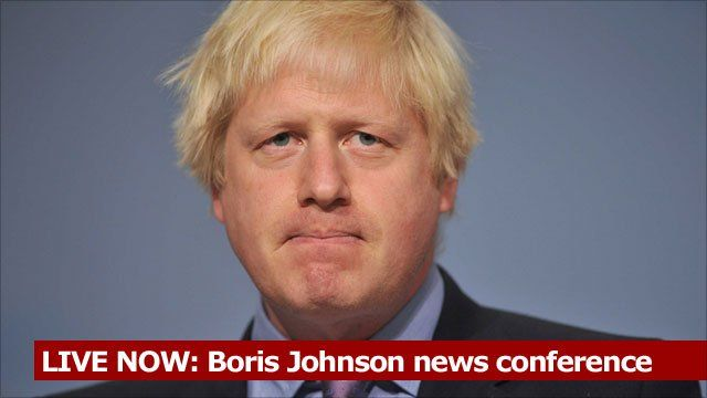 LIVE NOW: Boris Johnson