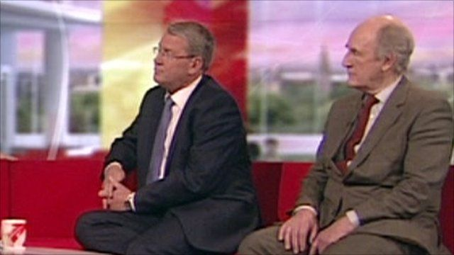 Peter Kendall, president of the National Farmers Union and Jack Reedy, from the Badger Trust