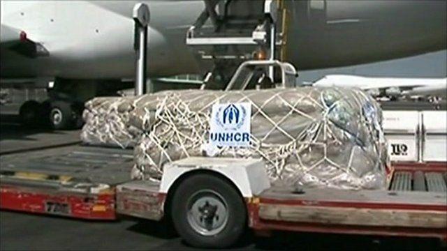 Aid arrives in Kenya