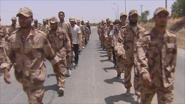Libyan rebel soldiers
