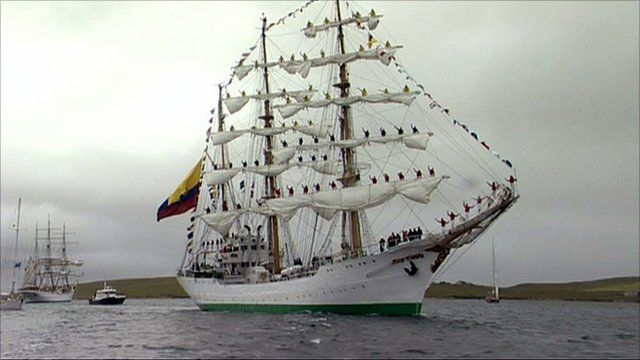 Tall ships leave Lerwick
