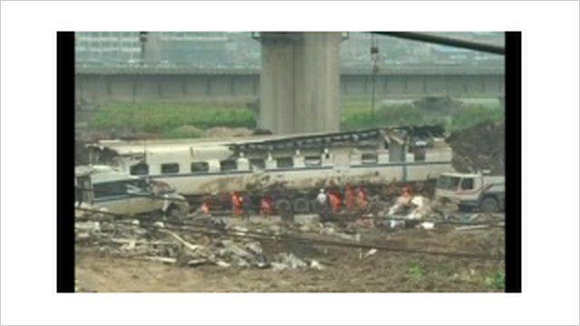 China rail crash