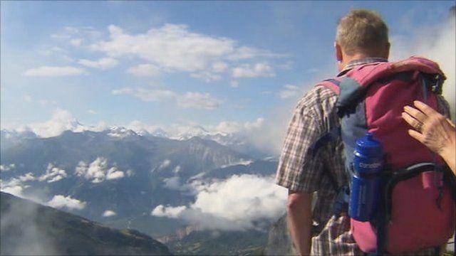 Tourists in Switzerland