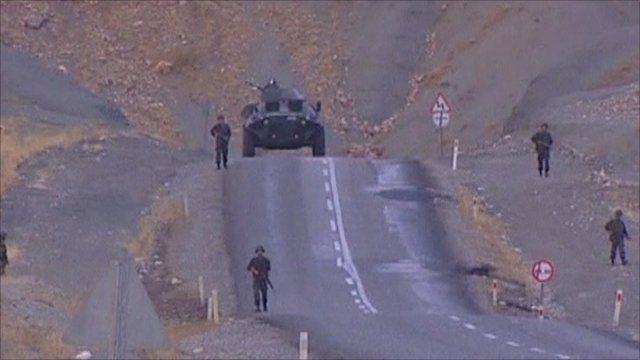 Troops at Turkey border