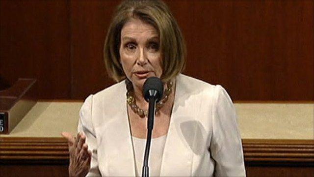 House Democratic leader, Nancy Pelosi