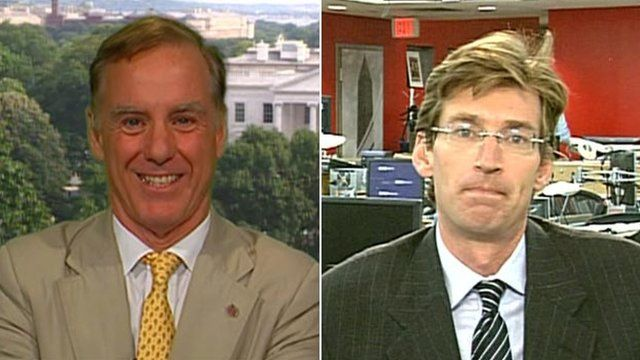 Howard Dean and Taylor Griffin
