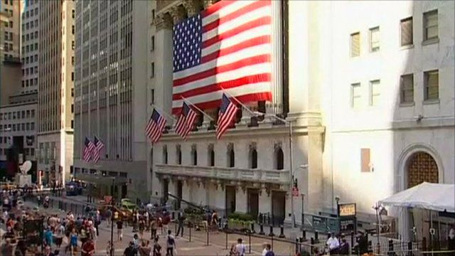 Exterior of Wall Street in New York