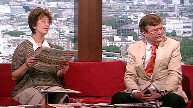 Maureen Lipman and Lord Oakeshott review the Sunday papers.