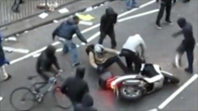 Man pulled off motor bike