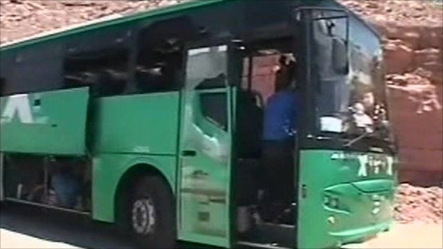 Bus attacked in Israel