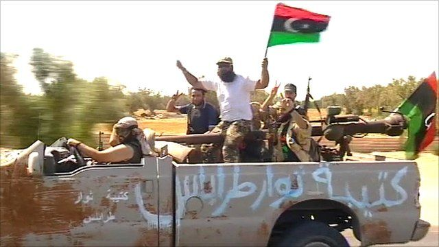Rebel fighters head for Tripoli