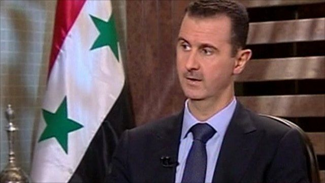 President Bashar al-Assad on Syrian State TV