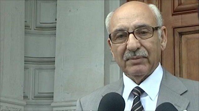 Libyan charge d'affaires in London Mahmud Nacua