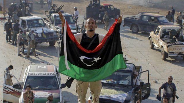 Rebel fighter in Tripoli, Libya