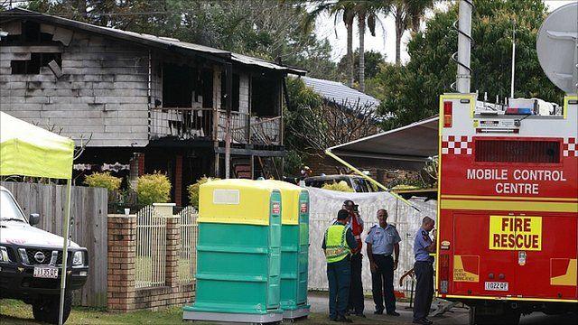 Fire in a house in Logan, Australia