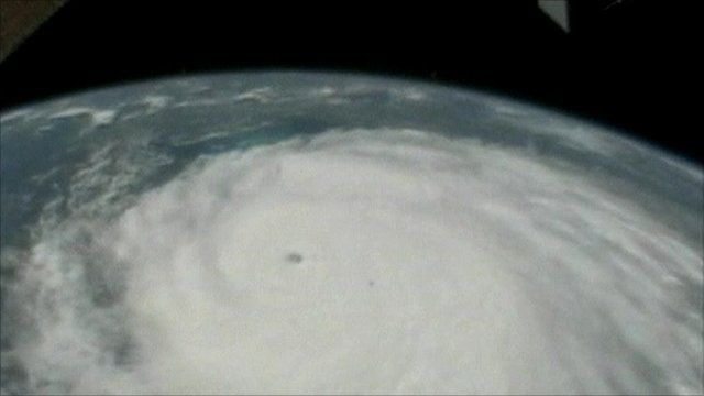 Hurricane Irene, seen from space