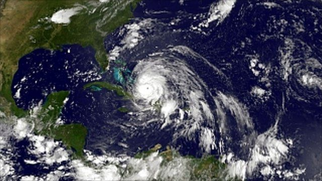 Hurricane Irene seen from space