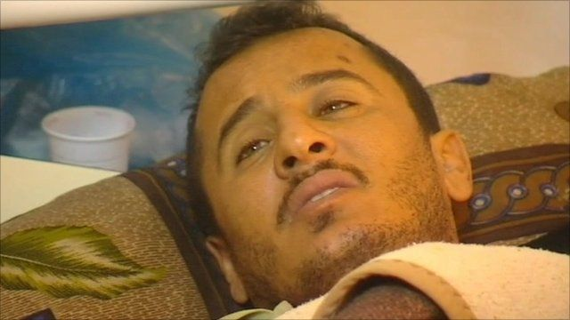 A man in a hospital bed
