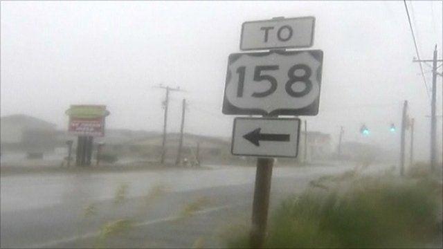 Hurricane Irene has hit North Carolina