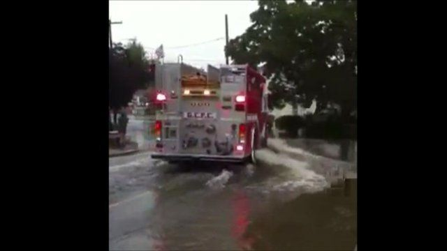 Flooded roads, Monmouth County, New Jersey. Copyright: Katie Longobardi