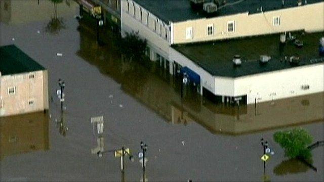 Tropical storm Irene damage