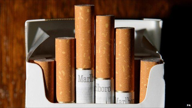 A packet of Marlboro cigarettes
