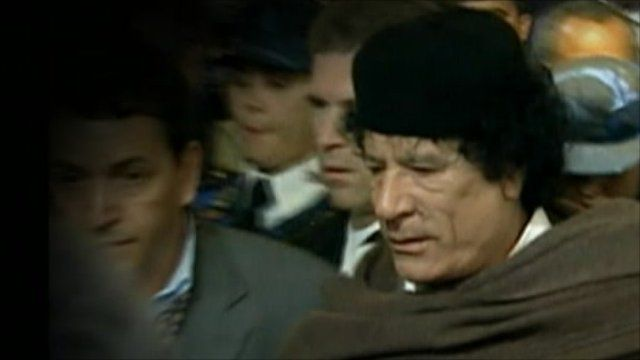 Col Gaddafi - file photo
