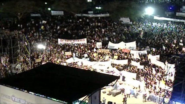 Mass protest in Israel