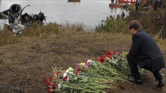 Medvedev at crash site