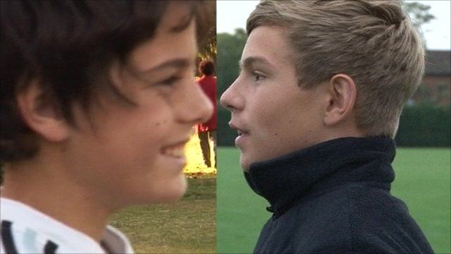 Two teenagers from Argentina and England face each other