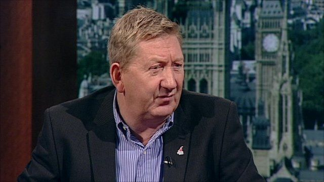 Len McCluskey the UNITE General Secretary talks to Andrew Marr